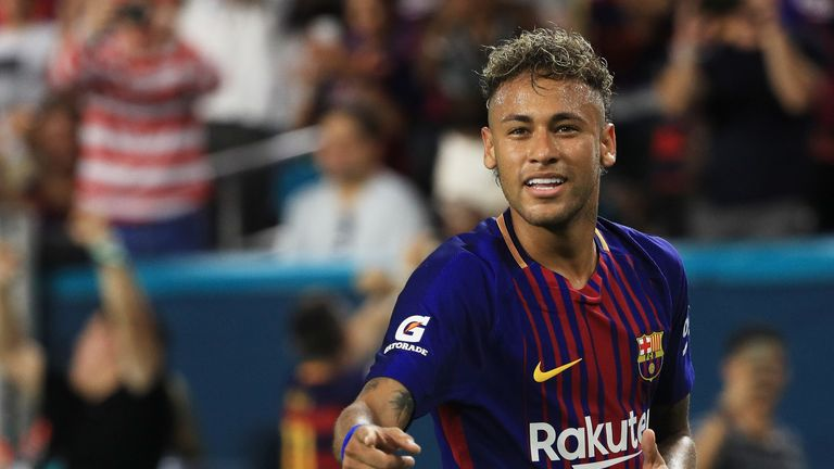 Neymar left Barcelona for Paris Saint-Germain in the summer of 2017