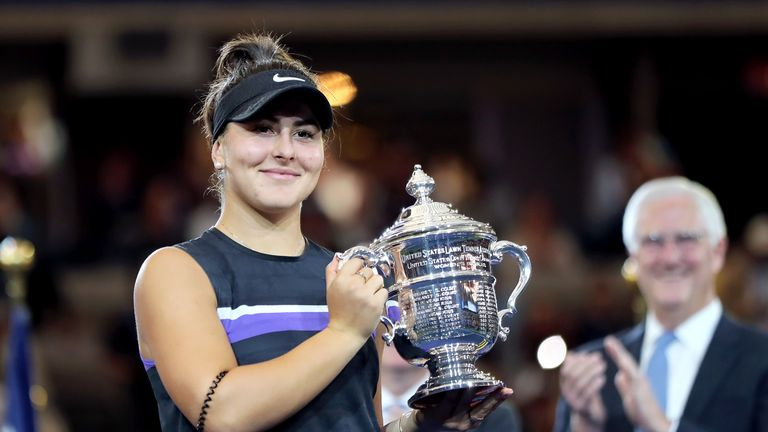 Bianca Andreescu is the first Women's singles champion to win the US Open at her first attempt