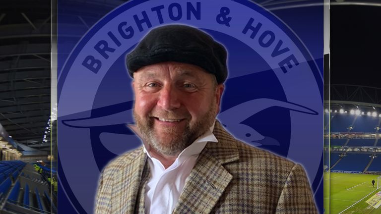 Brighton assistant head coach Billy Reid in costume for his new acting role