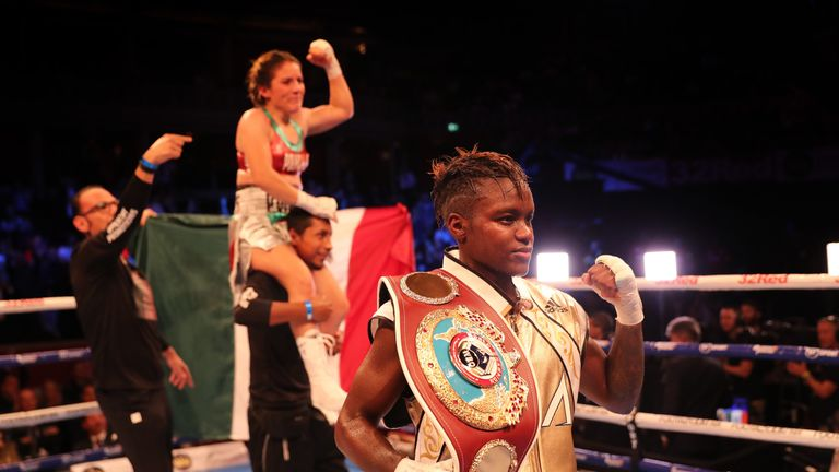 Adams'  last appearance came in September at the Royal Albert Hall where she drew with Maria Salinas in her first defence as a world champion
