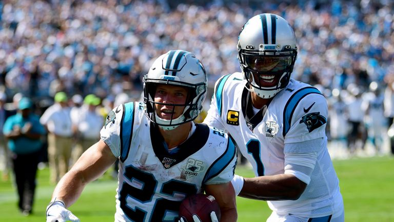 Christian McCaffrey carries the load for the Carolina Panthers offense