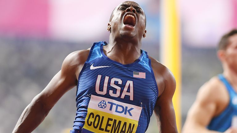 Coleman cemented his place as the fastest sprinter in the world with a 9.76s finish