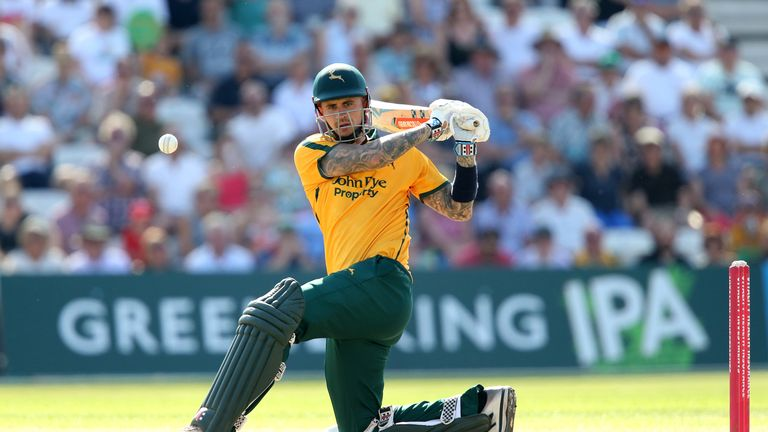 Nottinghamshire and England opener Alex Hales has signed for Barbados Tridents