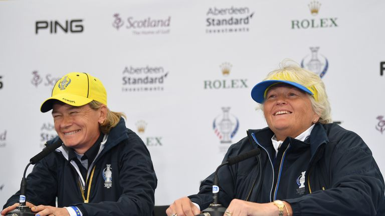 Dame Laura Davies is a European assistant captain for the first time this week