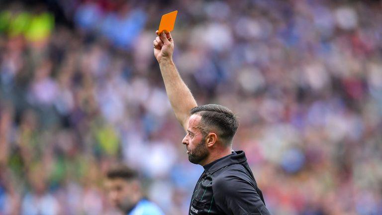 Gough showed Dublin's Jonny Cooper a red card