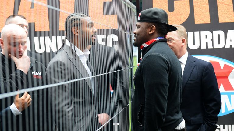Haye and Chisora's pre-fight press conference required a metal fence to prevent a brawl