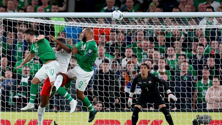 David McGoldrick scored the Republic of Ireland against Switzerland