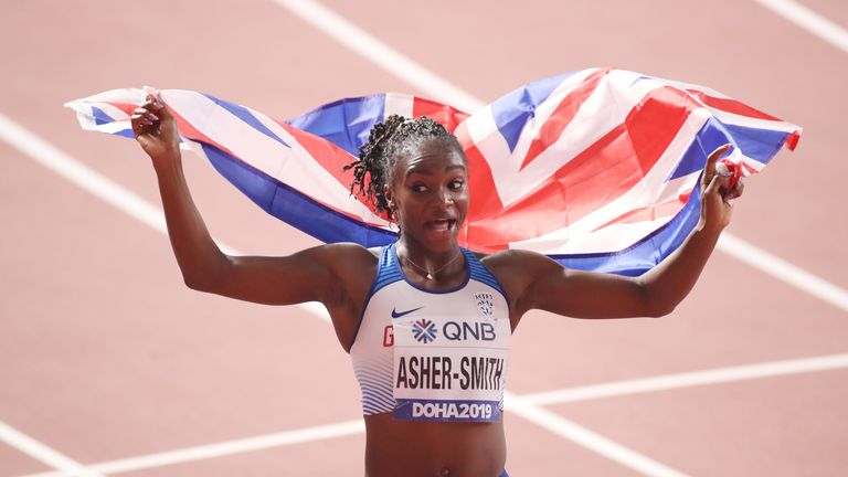 Dina Asher-Smith won three medals, one gold and two silver, at the 2019 World Athletics Championships