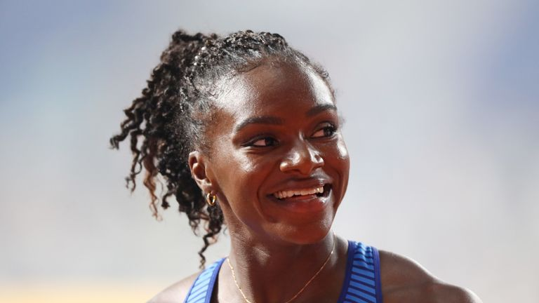 Dina Asher-Smith is aiming for a triple medal haul after securing her 100m silver on Sunday