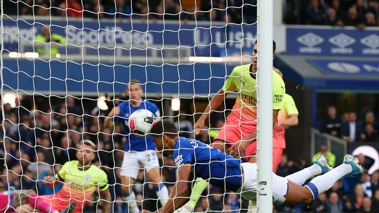 Dominic Calvert-Lewin was allowed to equalise after a mix-up in the Manchester City defence