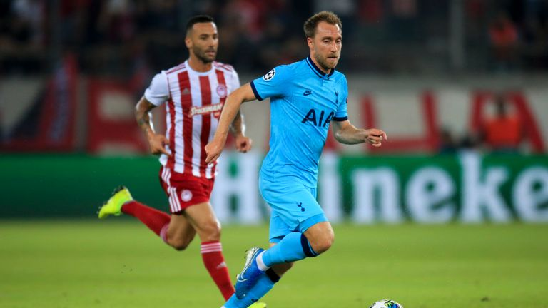 Christian Eriksen was wasteful for Tottenham, giving the ball away 22 times