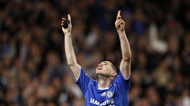 Frank Lampard made a tribute to his mother after scoring against Liverpool in the 2008 Champions League semi-final