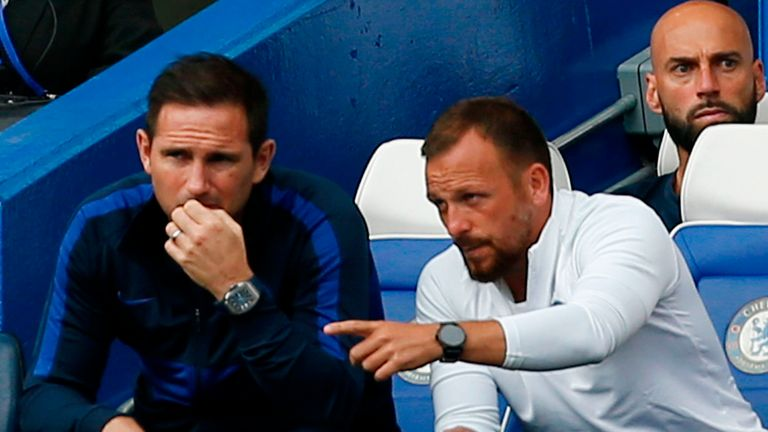 Jody Morris (R) says Frank Lampard is focusing on more than just results at Chelsea
