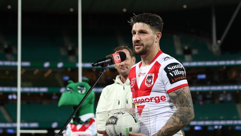 Gareth Widdop made his final appearance for the Dragons last week