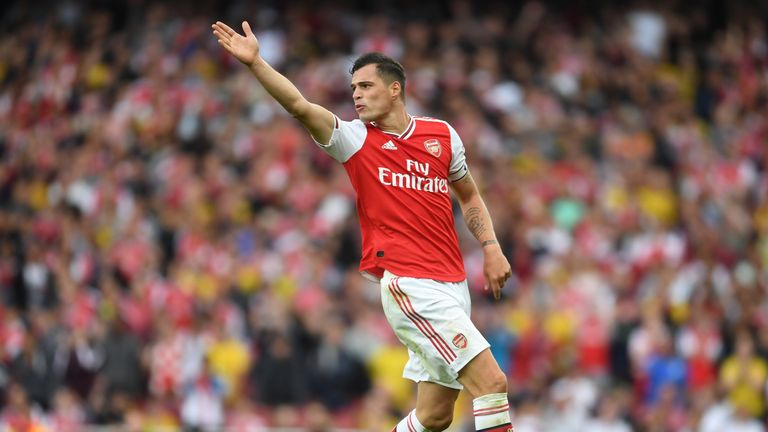 Granit Xhaka's late lunge gifted Spurs a penalty