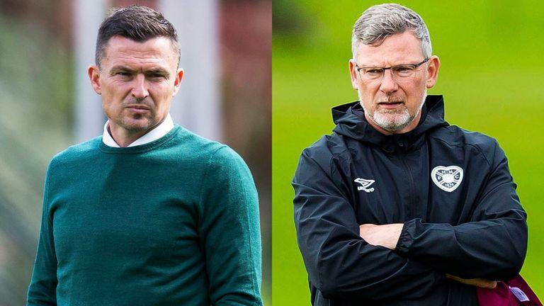 Hibernian host Hearts in Edinburgh derby with Paul Heckingbottom and Craig Levein under pressure