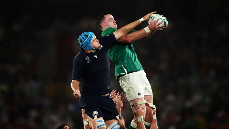 Ryan scored Ireland's first try in their opening-round win against Scotland