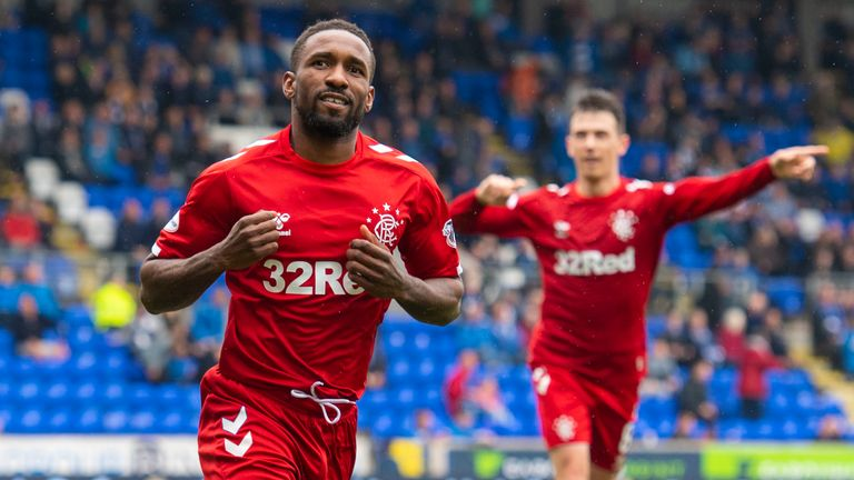 Defoe scored 17 goals in 32 appearances for Rangers before the season was ended