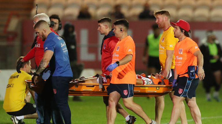 Hull KR's Jimmy Keinhorst was forced off injured