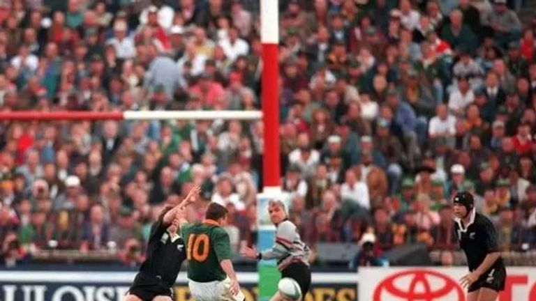 Joel Stransky struck the match-winning drop-goal at Ellis park in 1995