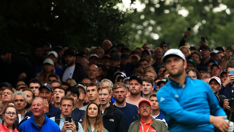 Runner-up Jon Rahm went out in the final group on both Saturday and Sunday