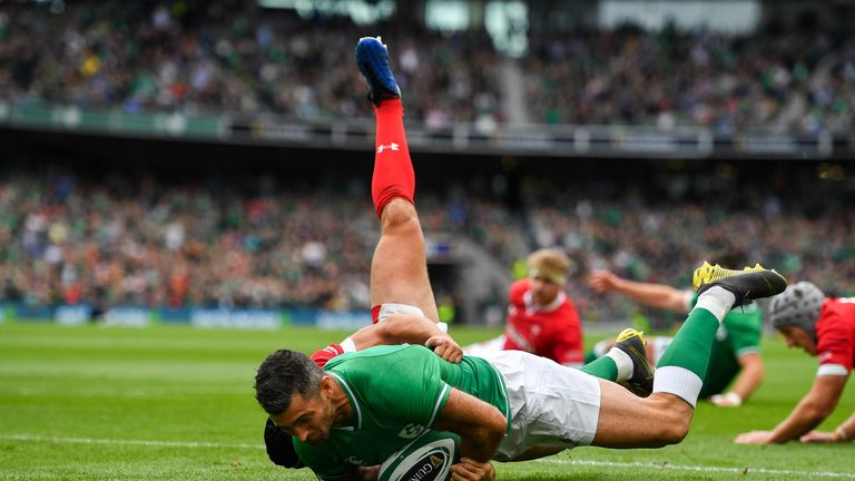 Kearney got over for the opening try of the day at the Aviva Stadium