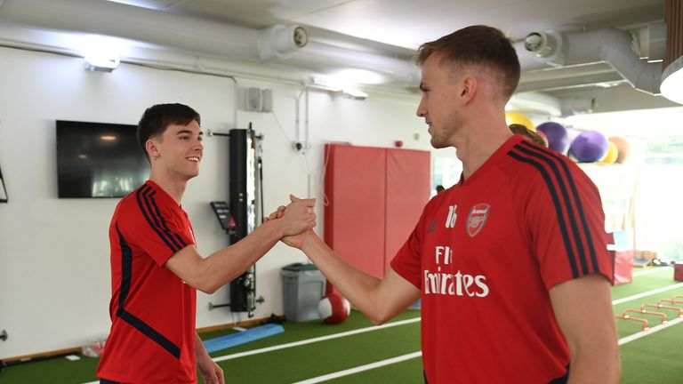 Tierney and Rob Holding could form part of a new-look Arsenal defence