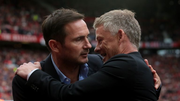 Frank Lampard (left) and Ole Gunnar Solskjaer have fielded youthful top-flight line-ups this season