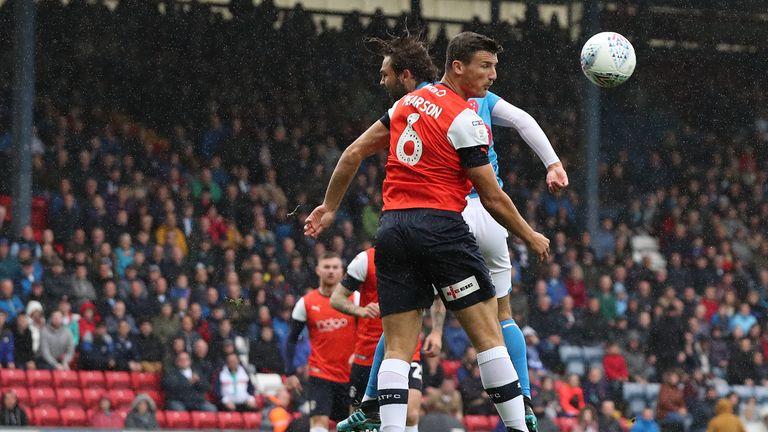 Blackburn's Bradley Dack and Luton's Matty Pearson