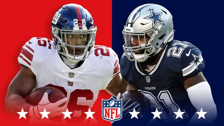 New York Giants @ Dallas Cowboys: Saquon Barkley and Ezekiel Elliott set for battle