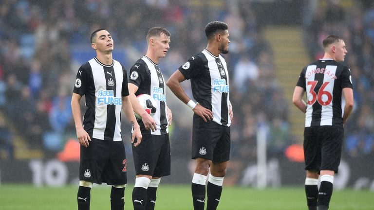 The Magpies conceded three goals in 10 minutes in the 5-0 loss at Leicester