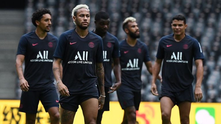 Neymar has been involved in PSG training despite not featuring for the Ligue 1 side at the start of this season
