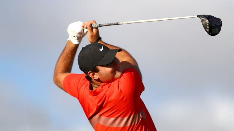 Patrick Reed leads Hero World Challenge with Tiger Woods six shots back