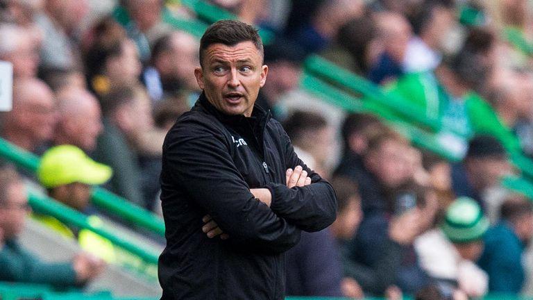 Hibs manager Paul Heckingbottom is under pressure
