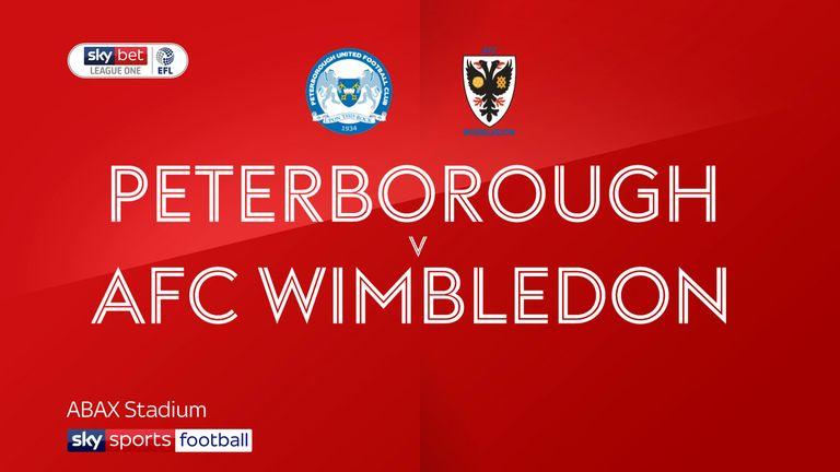 Peterborough 3-2 AFC Wimbledon: Mo Eisa scores twice in home win