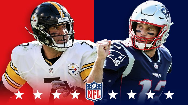 Ben Roethlisberger and Tom Brady face off as the Pittsburgh Steelers travel to play the New England Patriots