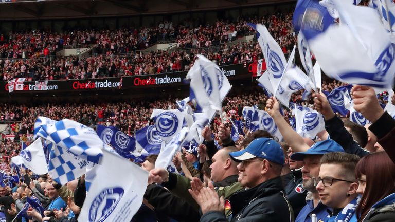 Portsmouth fans helped save their club after financial issues