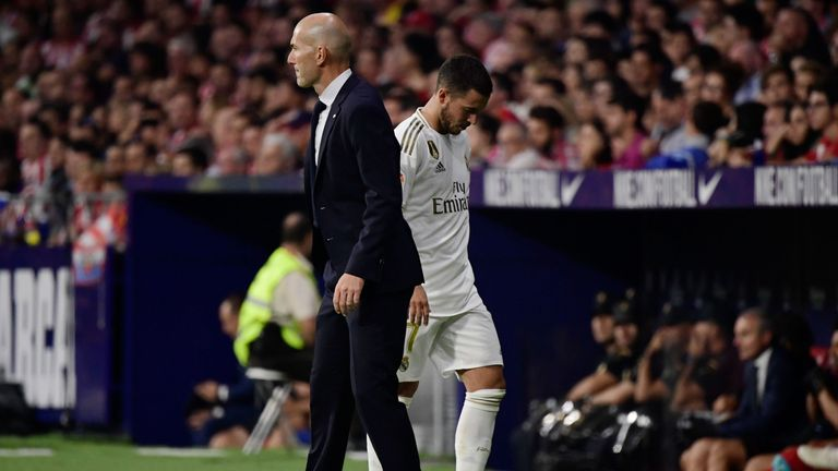 Hazard was subbed off by Zinedine Zidane in the 77th minute against Atletico Madrid