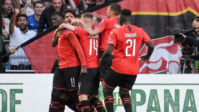 M'Baye Niang fired Rennes in front with a first-half penalty