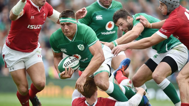 Patchell collided with Ireland's CJ Stander before leaving the field