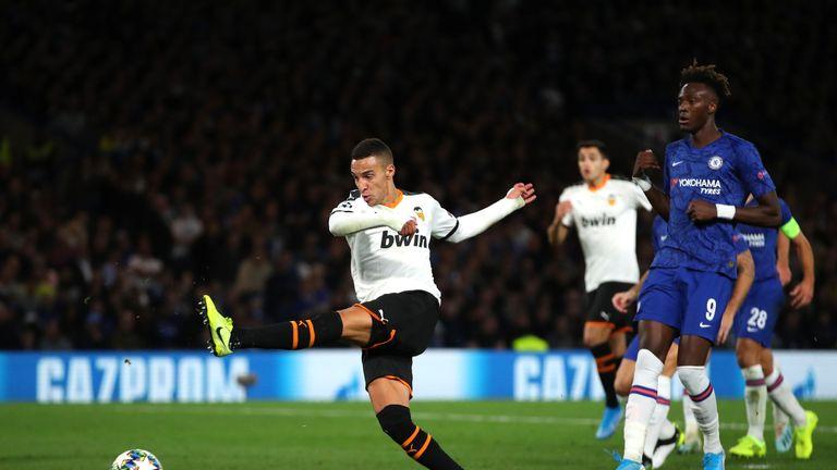 Rodrigo gave the Chelsea defence the slip before scooping in Valencia's winner