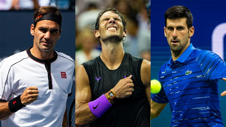 Roger Federer leads the way with 20 Grand Slam titles but Rafael Nadal and Novak Djokovic are closing in