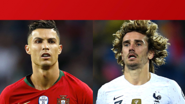 Cristiano Ronaldo and Antoine Griezmann will be in action for Portugal and France on Saturday, live on Sky Sports