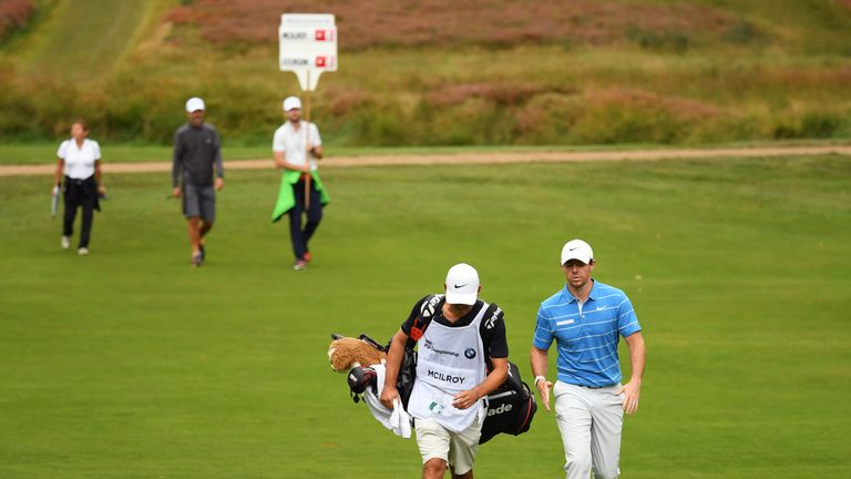 McIlroy was playing alongside Henrik Stenson during the final round at Wentworth