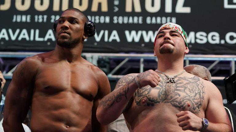Ruiz Jr was over a stone heavier than Joshua
