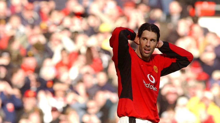 Ruud van Nistelrooy never got to a Champions League final despite spells at Manchester United and Real Madrid