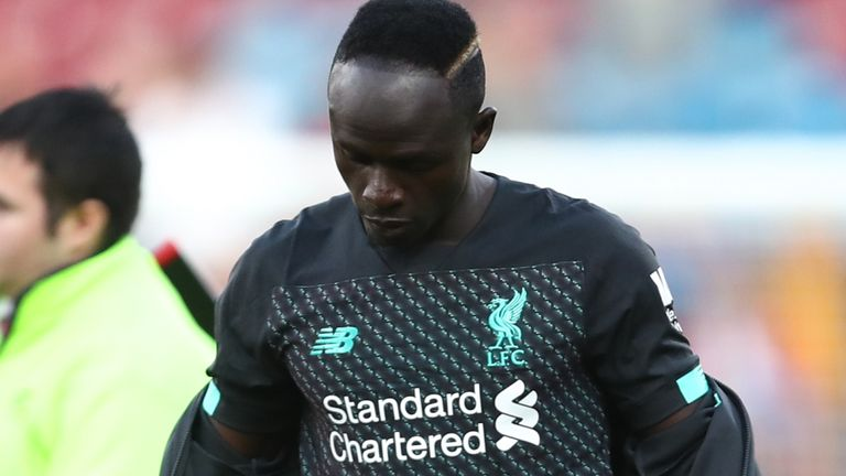 Liverpool's Sadio Mane showed his anger during the 3-0 win over Burnley