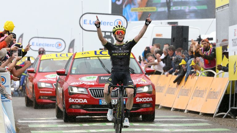 Simon Yates won stage 15 win at this year's Tour de France