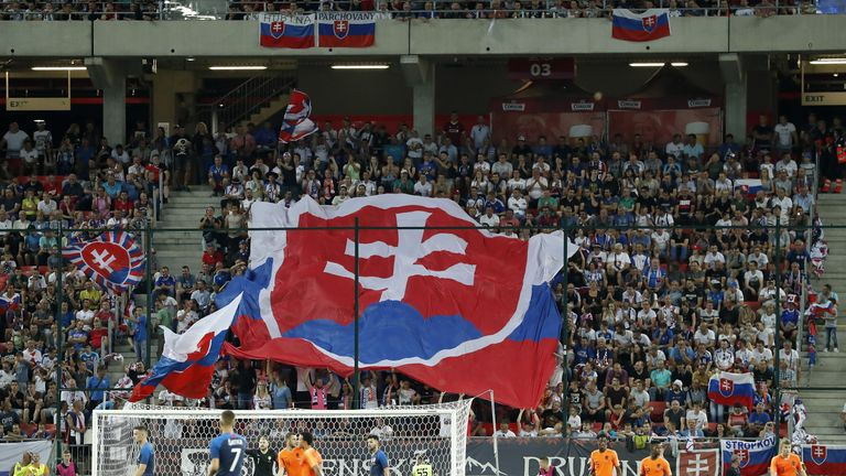 UEFA penalised Slovakia after supporters' racist chanting in Hungary two weeks ago