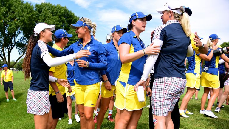 Team USA are looking to win the Solheim Cup for the third consecutive time